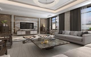 新中式风格大别墅装修效果图