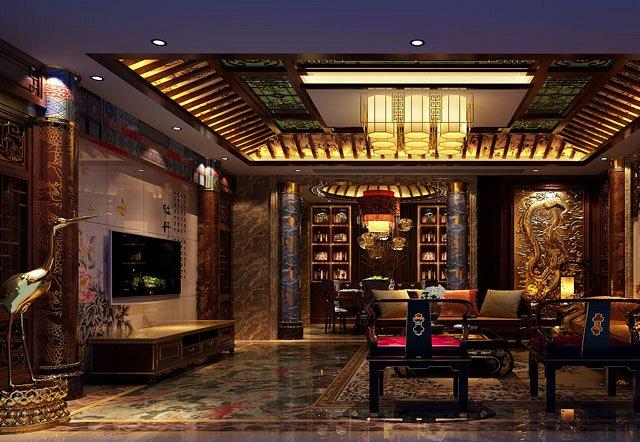 这中式装修别墅,跟住皇宫一样