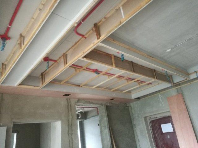 石膏板天花吊顶步骤造型