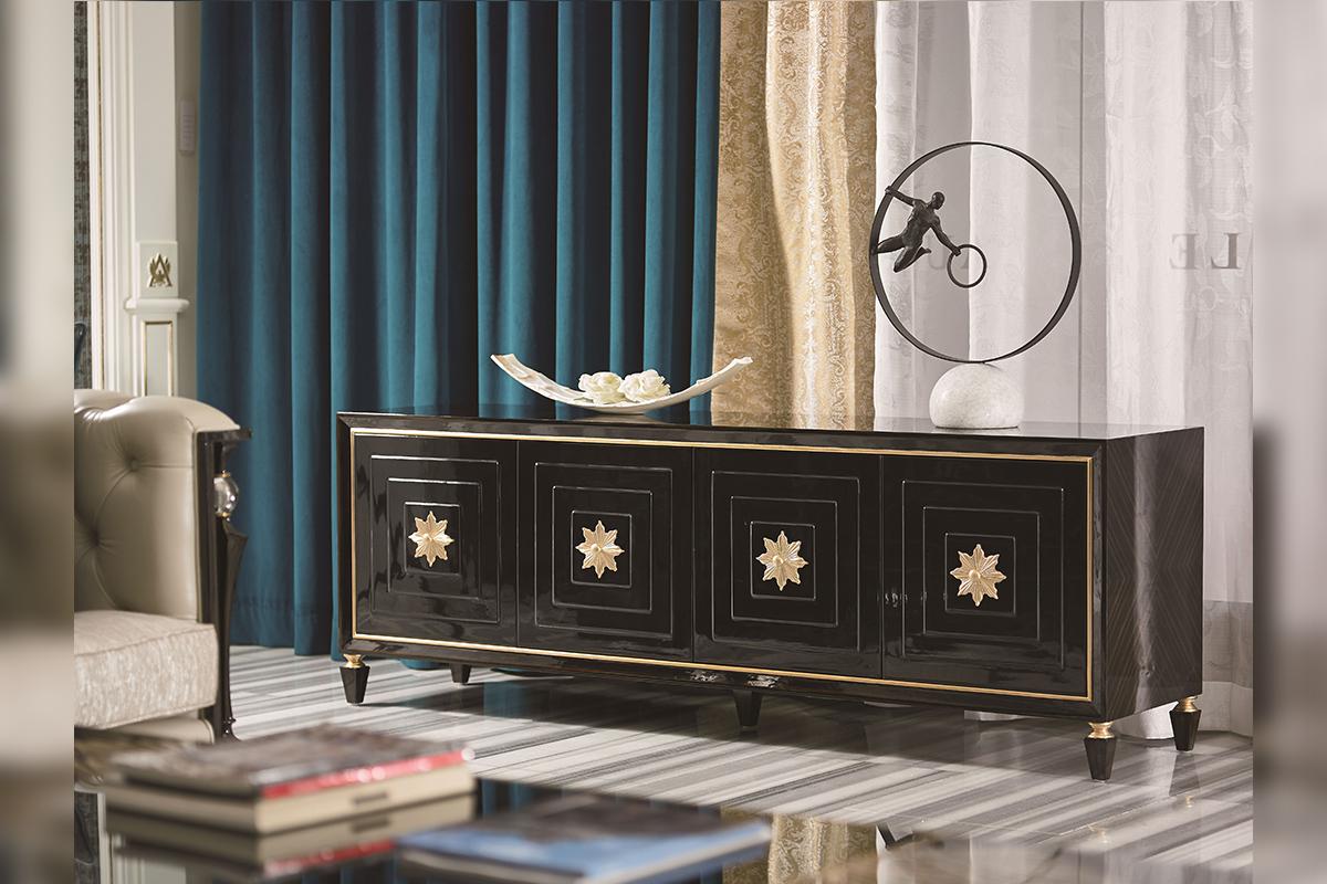 轻奢风格的家装是一种低调不炫耀的设计,喜好于追求和享受舒适的生活。轻奢一词中:轻很好地诠释了优雅与气质的家装设计,却又不失高贵;奢是不代表炫富,却是在奢华中追求低调、舒适的生活态度。打造一个轻奢的家居,我们可以从哪些单品入手呢?  这一款沙发设计得时尚、优雅,暗灰色系搭出沙发的质感,细绒面的材质让沙发手感更胜一筹,在颜值中透露舒适感。  金色与裸色的混合设计再加上欧式的复刻花纹,这一款简单却奢华的大床无疑是轻奢单品的标配。  暗黑色调的柜子,其表面看起来晶莹亮丽,点缀上金色的花边,在低调的奢华中