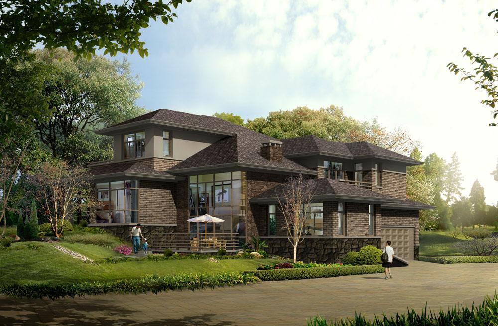 前后4间型别墅设计