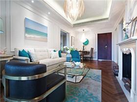 二房二厅装修效果图   80平美式风格二居室样板间