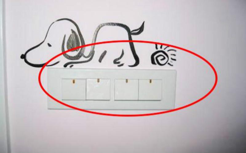 3,顶灯没有设计双控开关 装修时,卧室的顶灯开关只设计在卧室门边上
