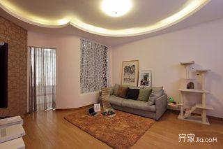 80平二居室现代简约装修效果图