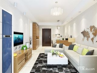 现代风格两居室装修效果图