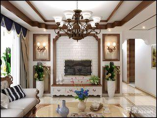 108平美式风格三居装修效果图