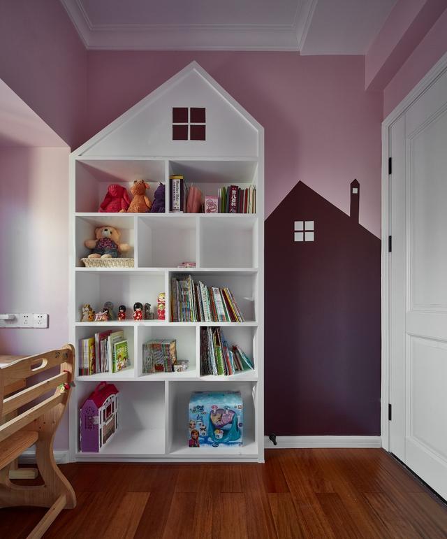 资讯 装修头条 自媒体 正文  儿童房刷成了非常可爱的粉色,连同床品都