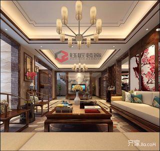 豪华新中式风格别墅装修效果图
