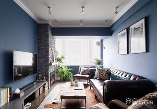 复古美式风格二居装修设计图