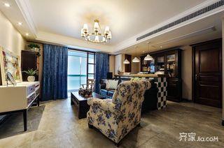 108平美式风格三居装修实景图