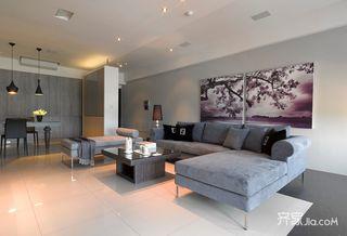 110平现代简约三居装修设计图