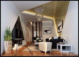 现代简约二居室设计客厅效果图