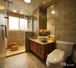 现代简约二居室卫生间装潢图