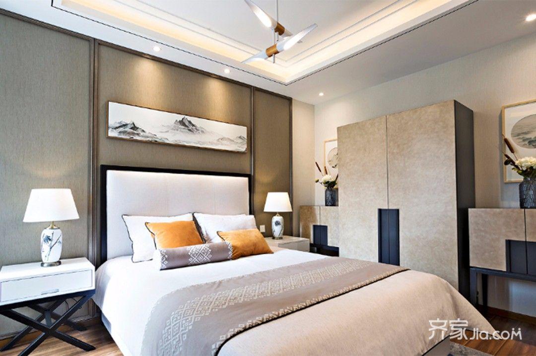 三居室中式装修卧室欣赏图