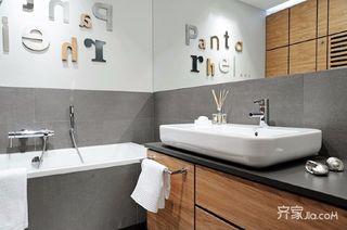 128㎡现代美式家卫生间设计图