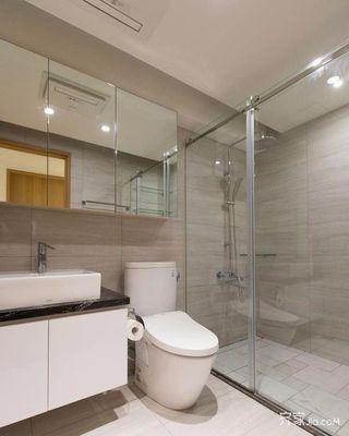130平简约风格家卫生间设计图