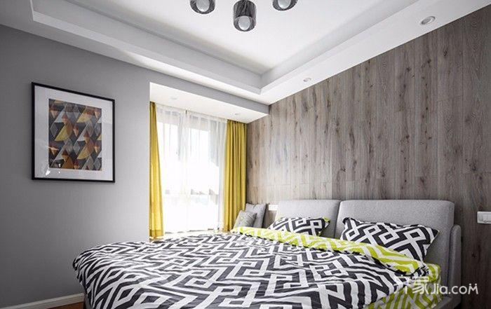130平北欧风格装修卧室设计图