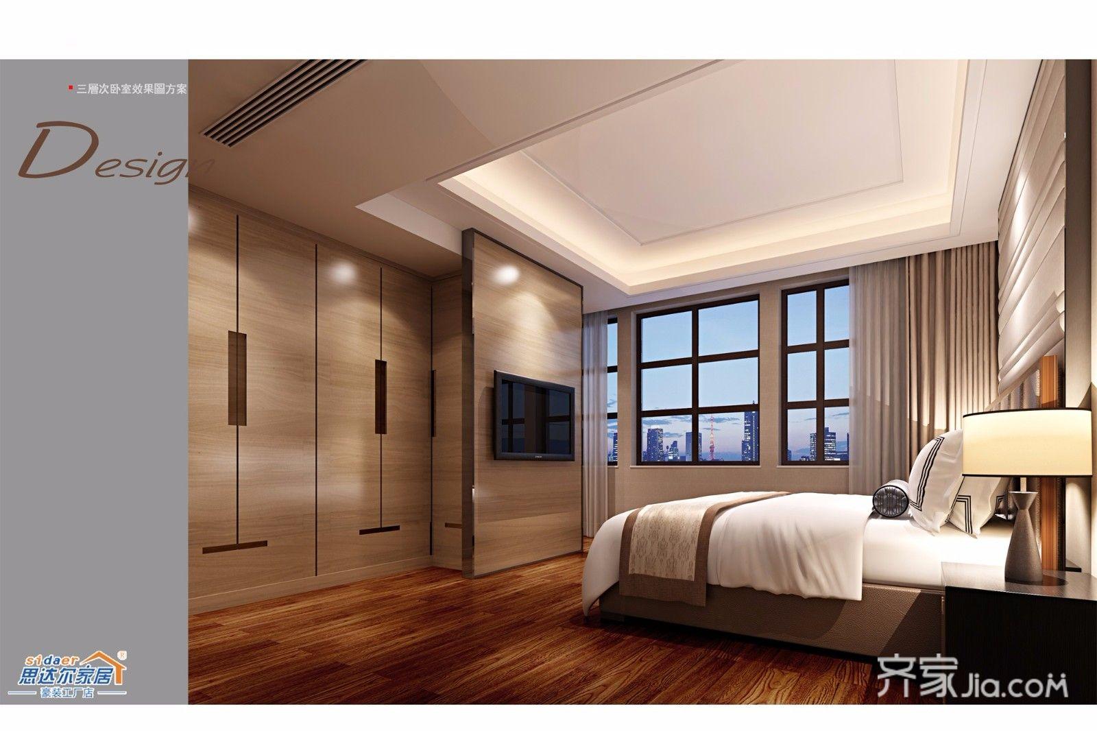 中式别墅设计卧室衣柜图片