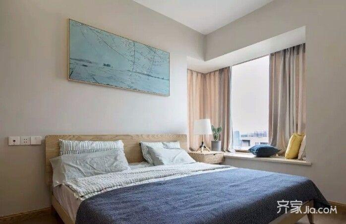 120㎡简约风格家卧室设计图