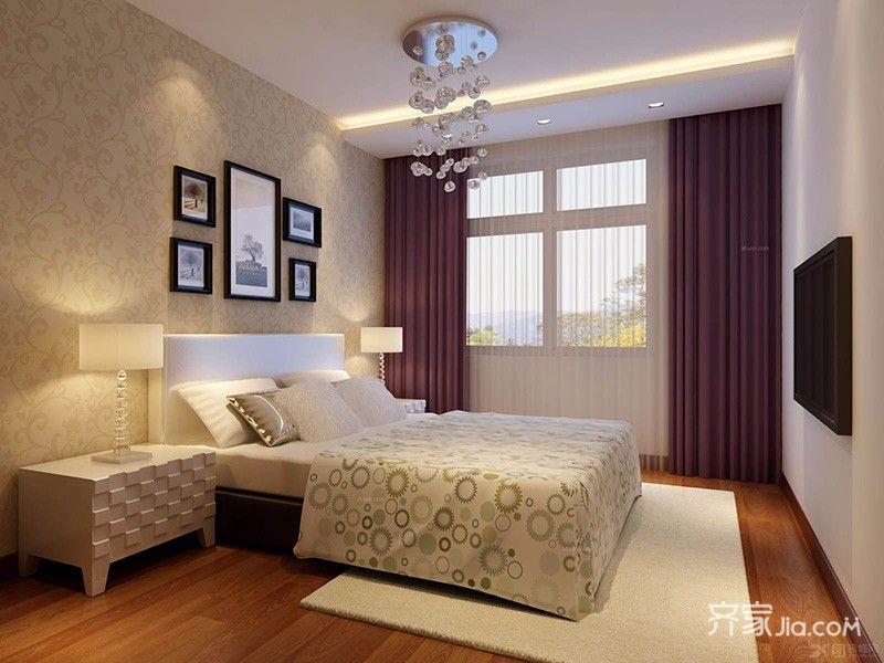 90平米混搭风格装修卧室效果图