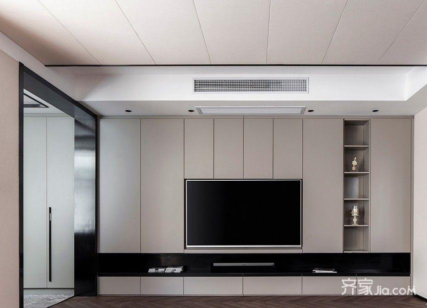 简约风格别墅装修电视柜图片