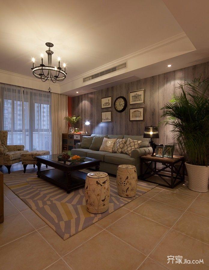 二居室混搭风格家客厅效果图