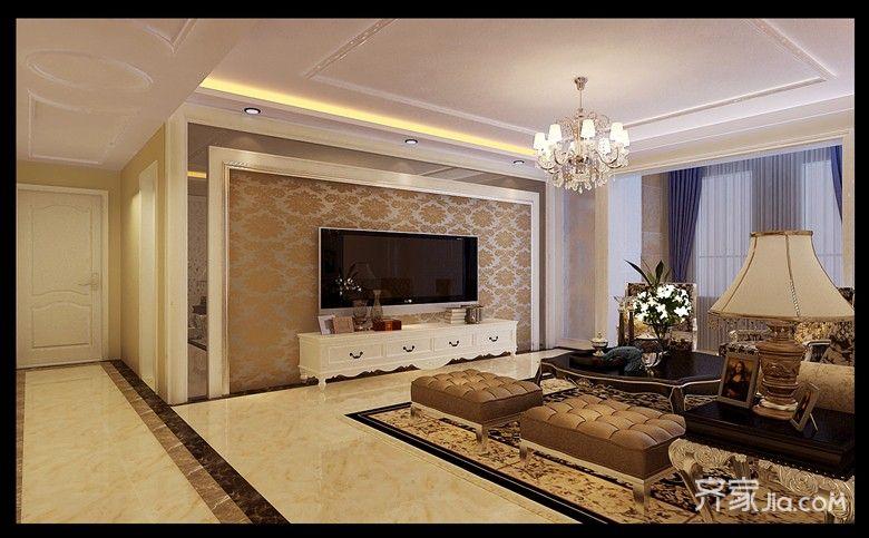 古典欧式风格装修客厅效果图