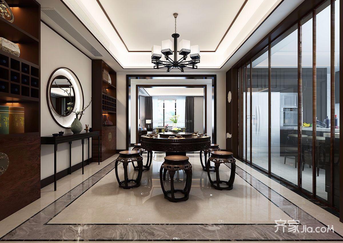 188平中式风格装修餐厅效果图