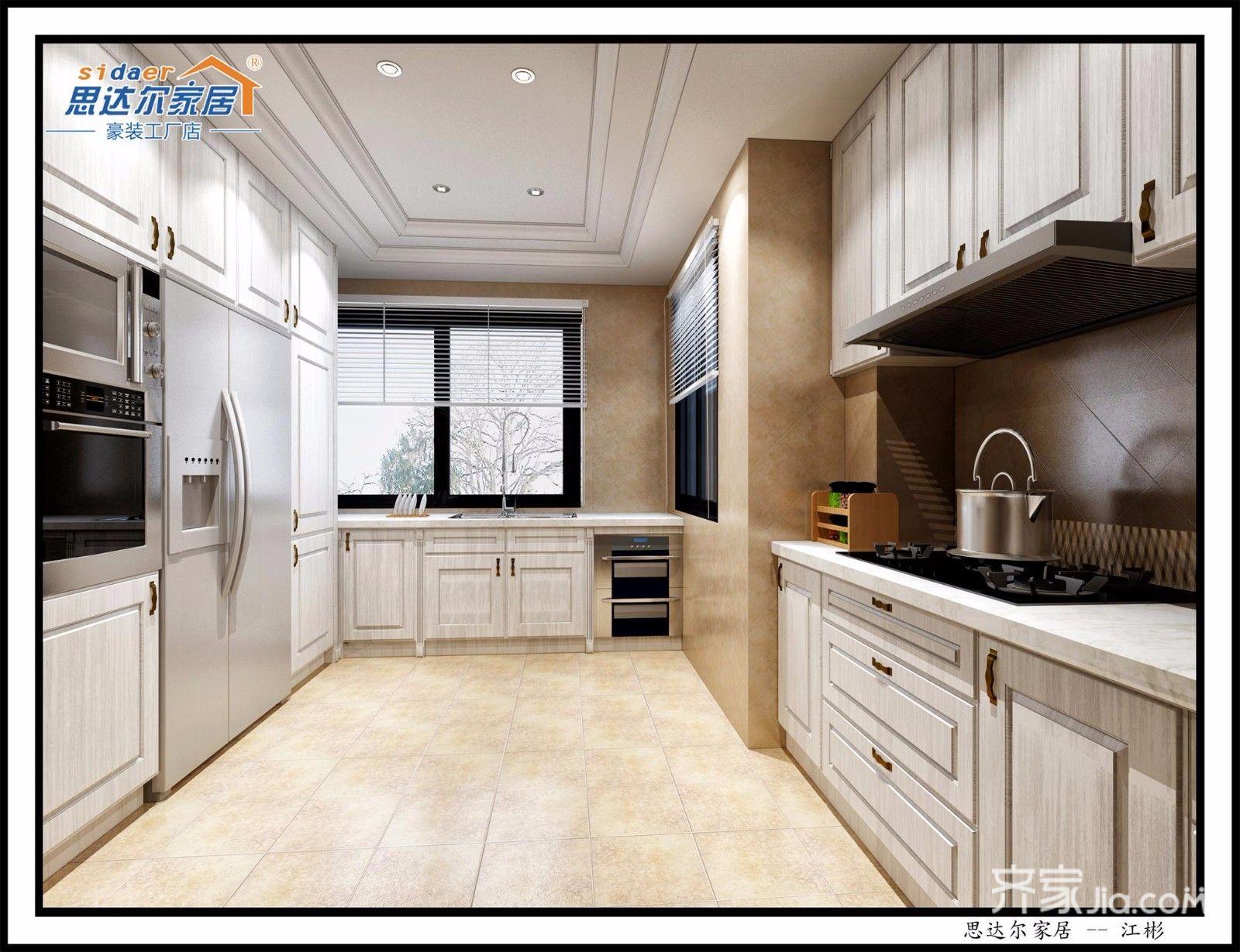 大户型欧式风格装修厨房设计图