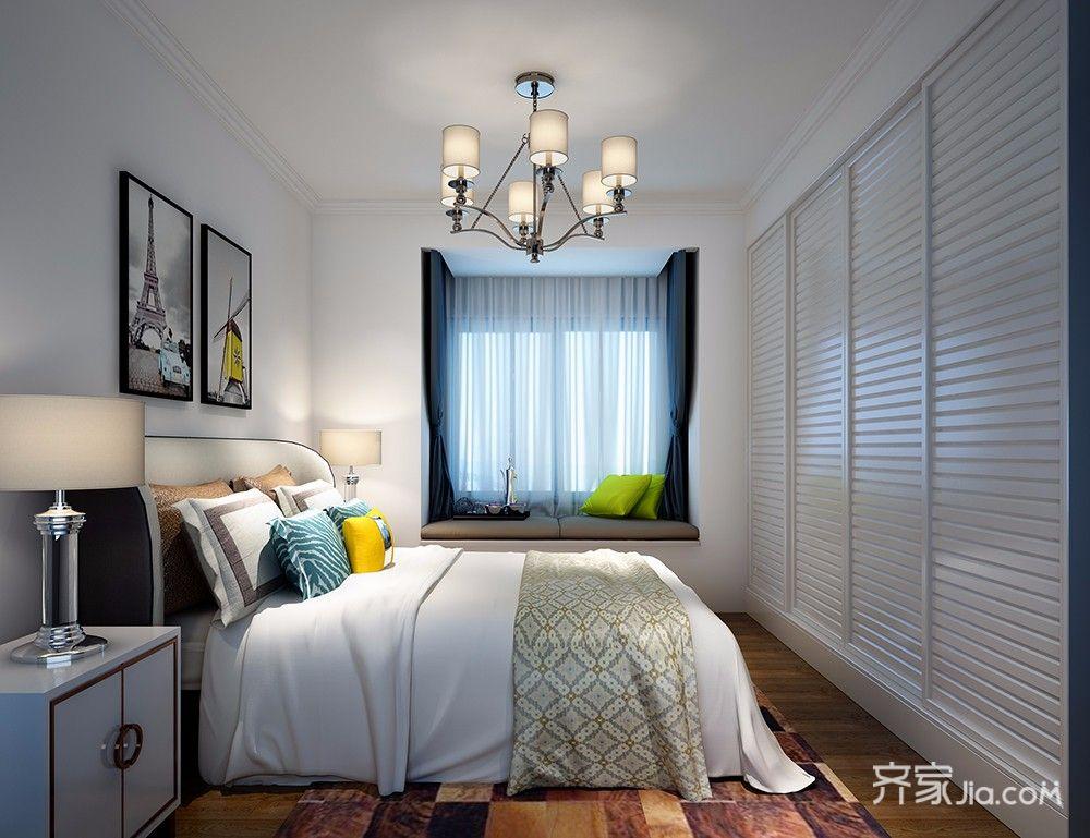三居室现代简约风格装修卧室效果图