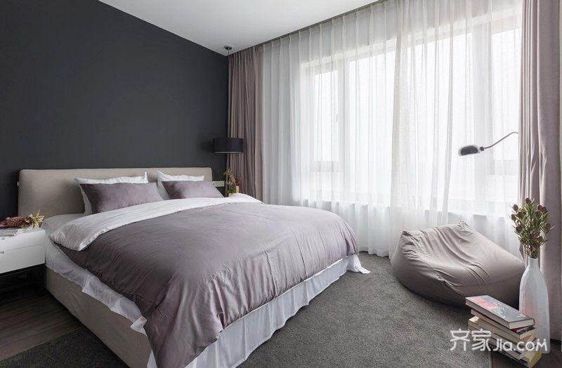 120平简约风格家卧室设计图