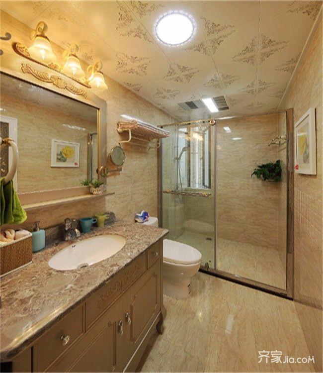 三居室简欧风设计卫生间效果图