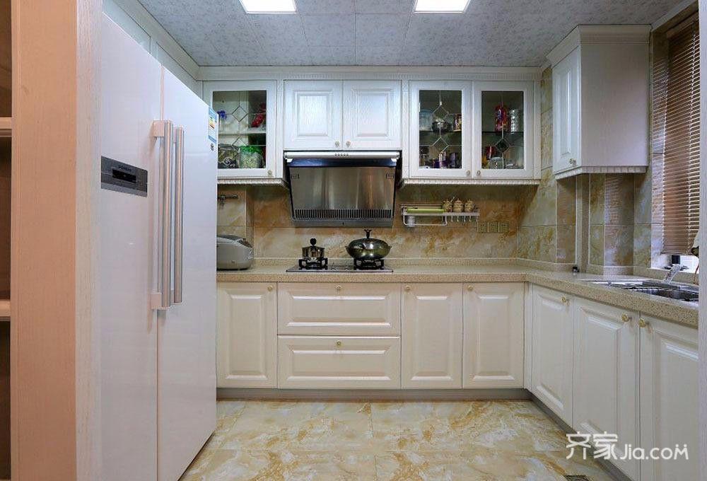 三居室简欧之家厨房构造图