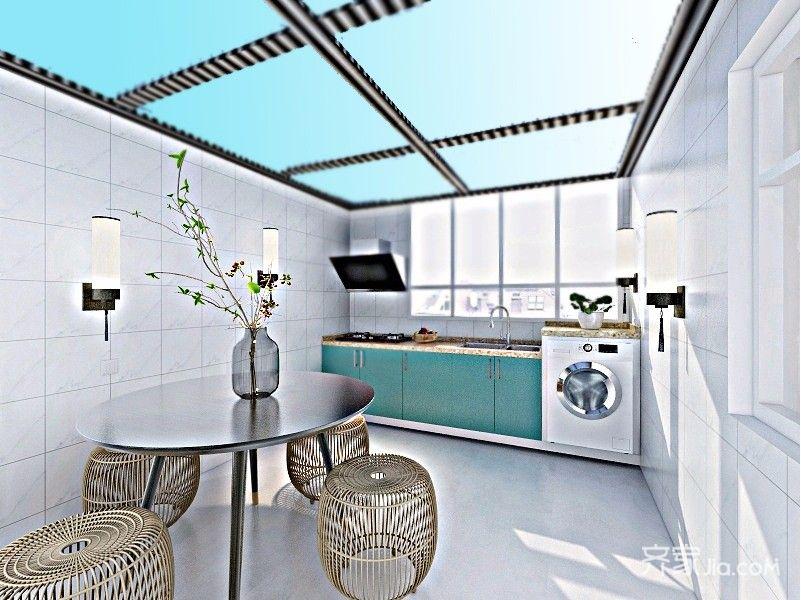 二居室简约风装修阳光房效果图