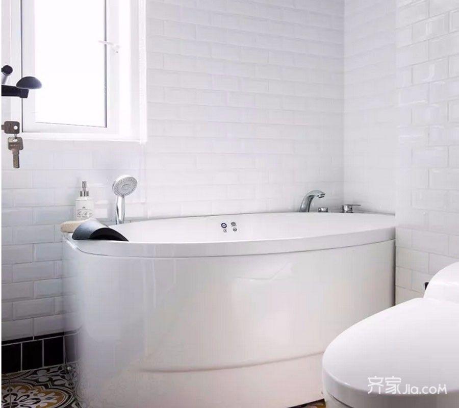 120㎡美式之家卫生间装潢图