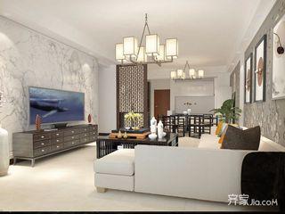 150平四居室中式韵味之家客厅效果图