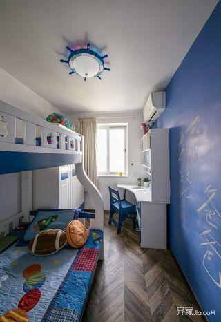 美式风情三居室装修儿童房效果图