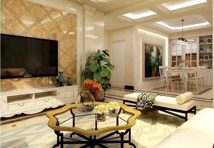 二居室欧式风格装修客厅效果图