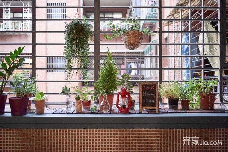 80平欧式风格家窗台图片