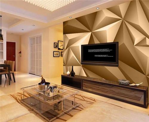 如何装修电视墙比较好—亮丽色彩和几何造型电视墙