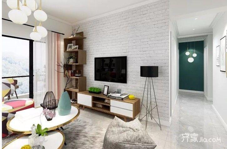 108平欧式风格家客厅效果图