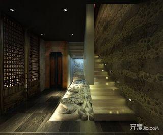 680平中式工装茶楼楼梯