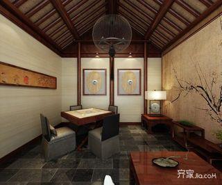 680平中式工装茶楼茶室欣赏图