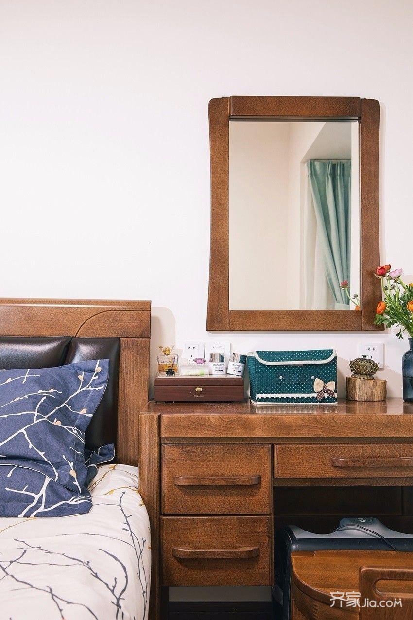90平欧式装修卧室梳妆台图片