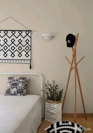 140平简约风格家卧室背景墙图片