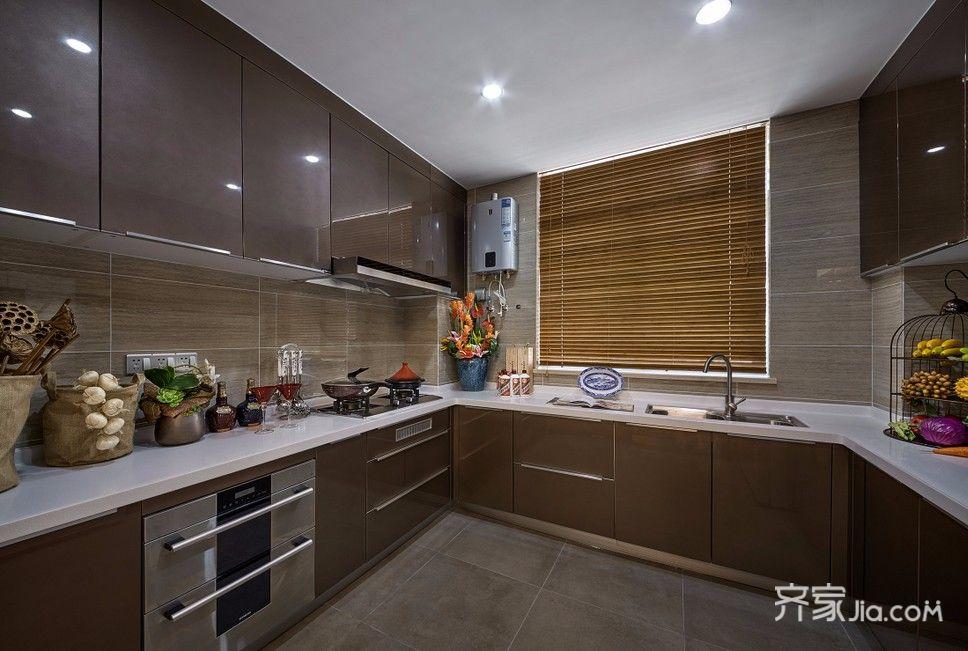 150㎡中式风格装修厨房装潢图