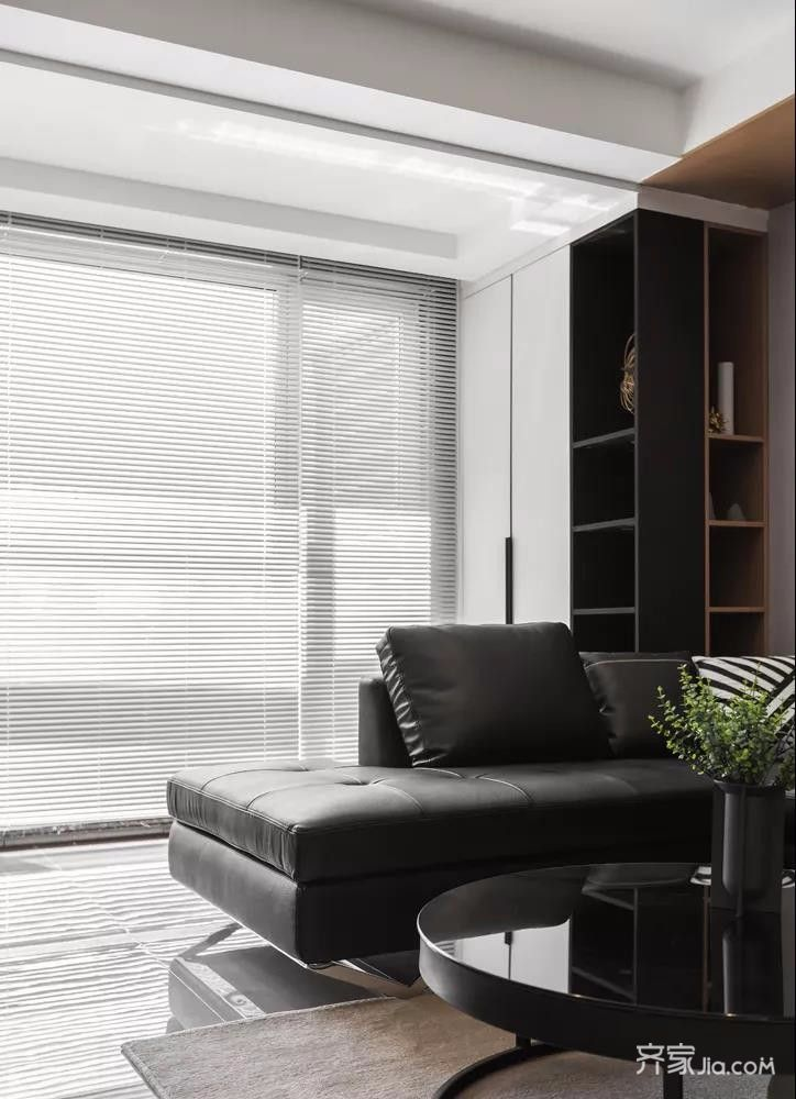 三居室简约风格装修百叶窗图片