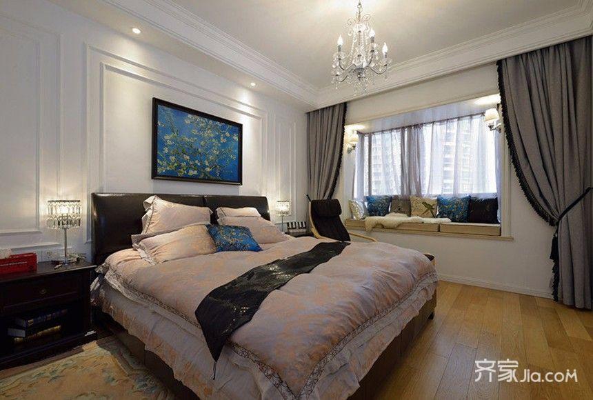 100㎡欧式风格装修卧室效果图