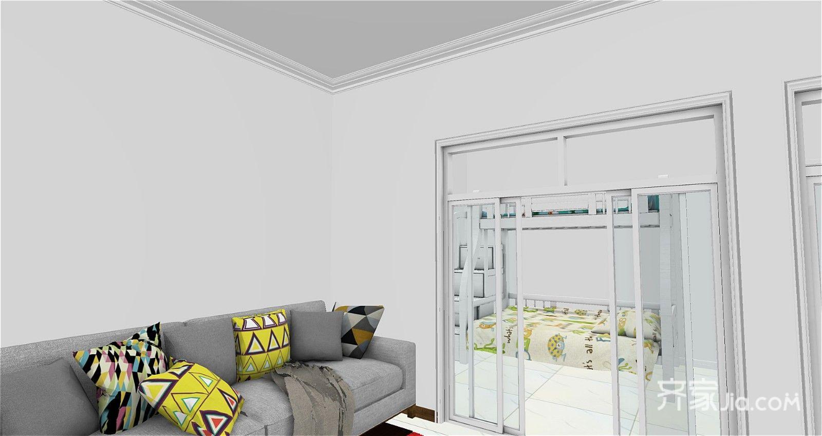 40平现代简约风格客厅效果图