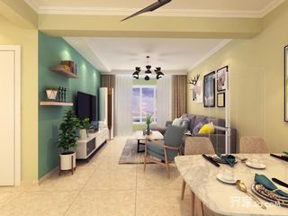 100㎡三居室装修设计 简单温馨